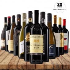 12 Fl. Jubiläumswein-Probierpaket