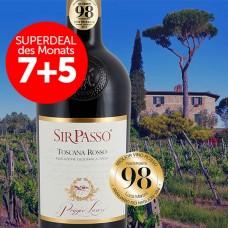 7+5 Superdeal: 12 Flaschen Poggio Lauro Sir Passo Toscana Rosso 2018 + versandkostenfrei (D)