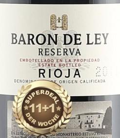11+1 Superdeal: 12 Fl. Baron de Ley Reserva 2012- frei Haus (D)