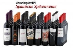 48 Flaschen  Weinkellerpaket 1 - Spanien