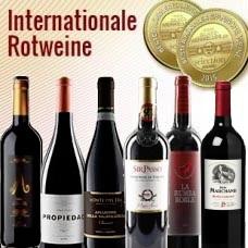 6 Fl. Probierpaket - Bester Weinhändler Deutschlands 2015 –  Internationale Rotweine