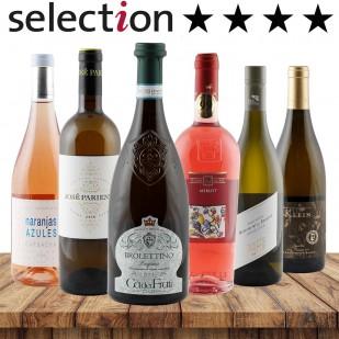 24 Sterne Paket-International Weiß & Rosé-Bester Weinhändler 2018