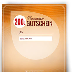 Geschenkgutschein über 200,00 EUR