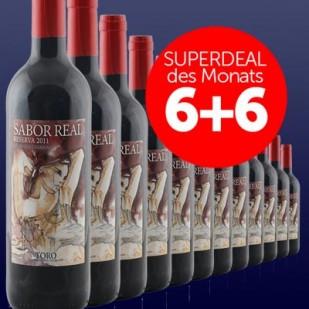6+6 SUPERDEAL: 12 Fl. Sabor Real Reserva Vinas Centenarias 2012