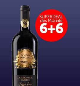 6+6 Superdeal: 12 Fl. Poggio Lauro Sogno Toscano Winemaker's Selection 2014