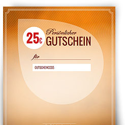 Geschenkgutschein über 25,00 EUR