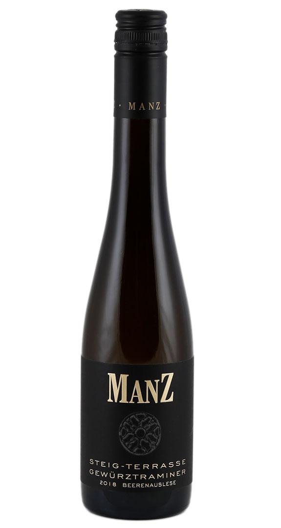Produktbild zu (0,375 L) Manz Guntersblumer Steig - Terrasse Gewürztraminer Beerenauslese 2018 von Weingut Manz