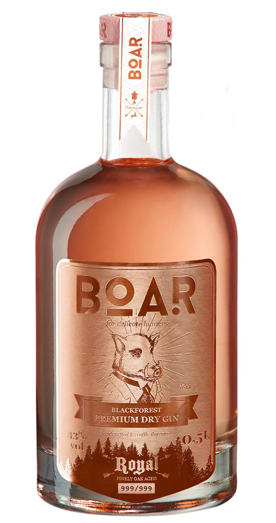 Produktbild zu BOAR Premium Dry Gin Royal Rubin von BOAR Distillery im Schwarzwald