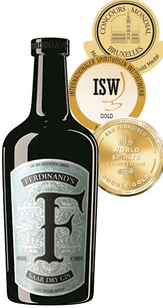 Produktbild zu Ferdinand's Saar Dry Gin von Capulet&Montague