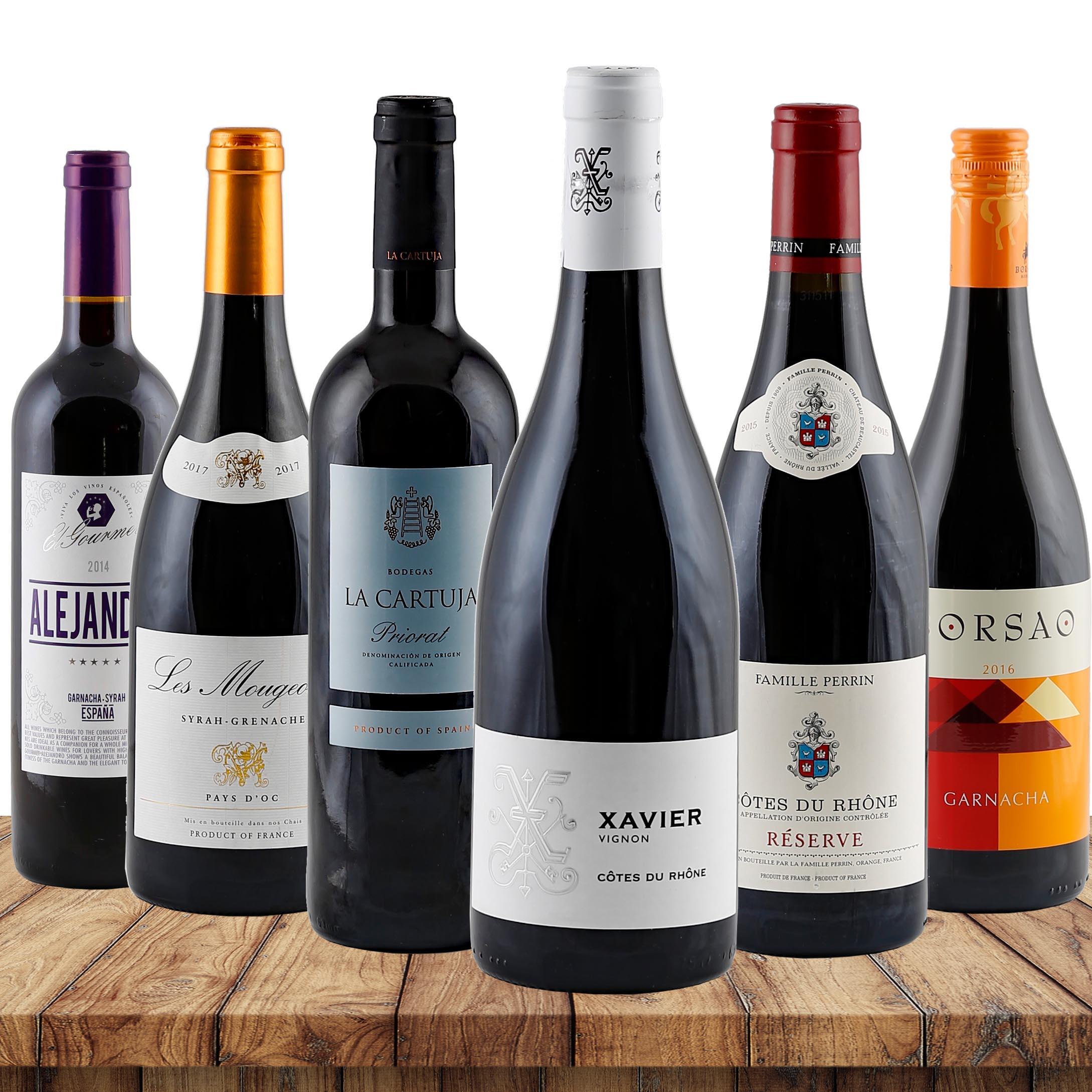 Garnacha-Grenache Favoriten verschiedene Weingü...