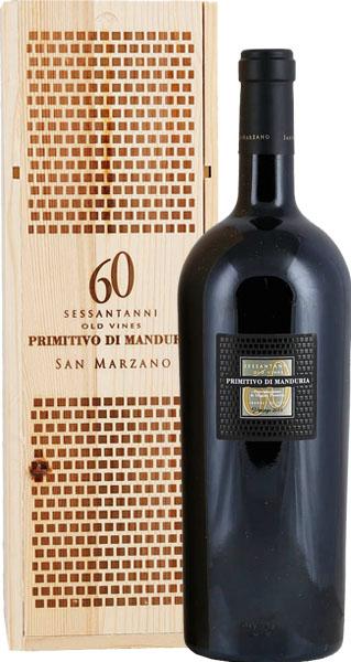 Produktbild zu Magnum (1,5 L) San Marzano Sessantanni 60 anni Primitivo di Manduria 2015 in 1er OHK von Cantine San Marzano