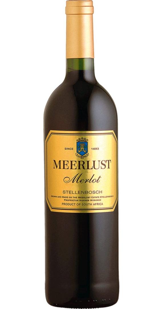 Meerlust Merlot 2014 0,75l Rotwein Südafrika Co...