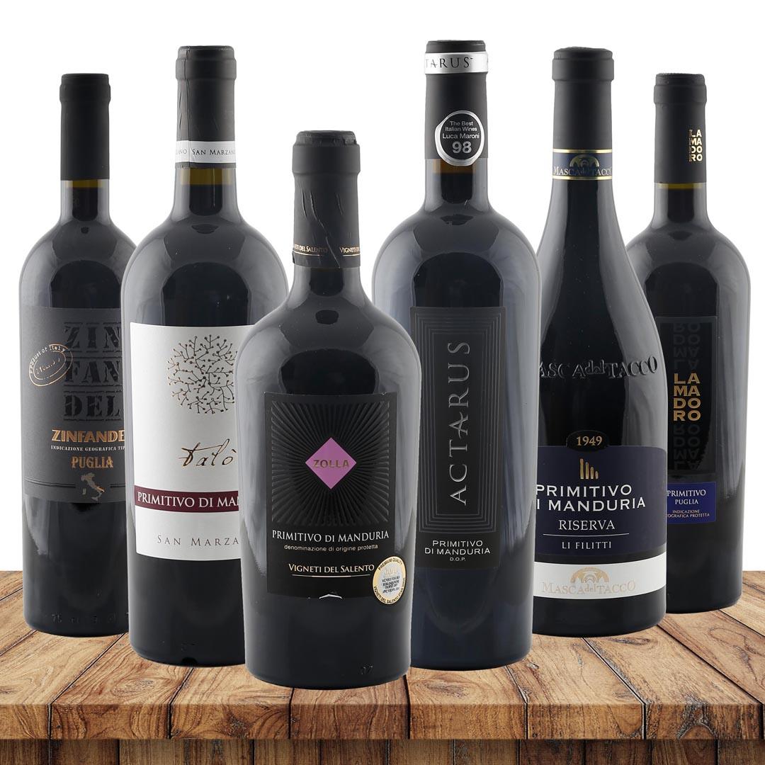 Primitivo Favoriten - 6 erlesene Primitivo-Wein...