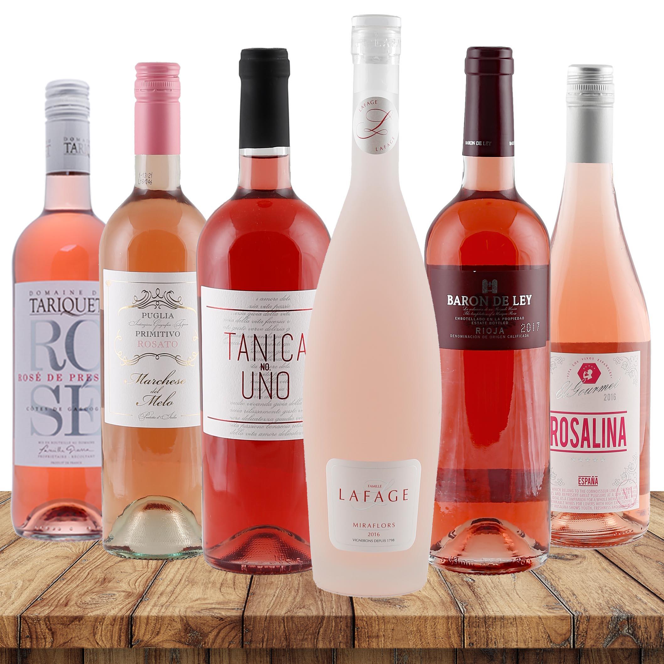 Rosé-Favoriten verschiedene Weingüter 4,5l Rosé...