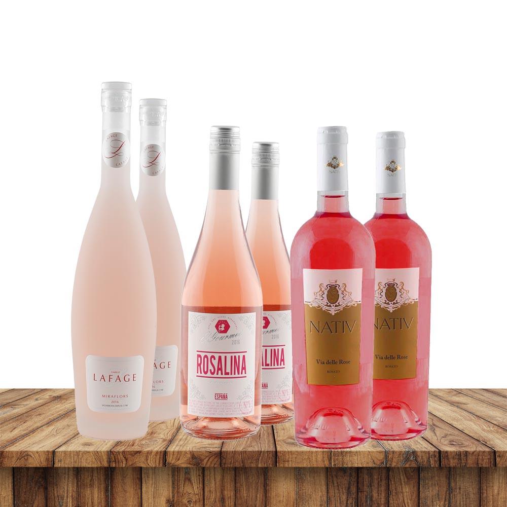Rosé Favoriten - je 2 Flaschen von 3 Roséweinen...