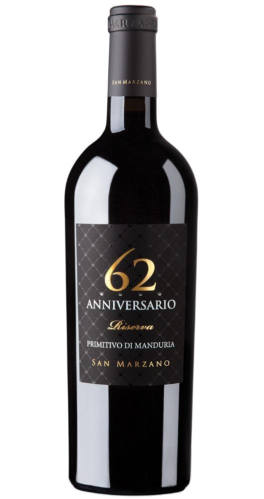 Produktbild zu San Marzano 62 Anniversario Primitivo di Manduria Riserva 2017 von Cantine San Marzano