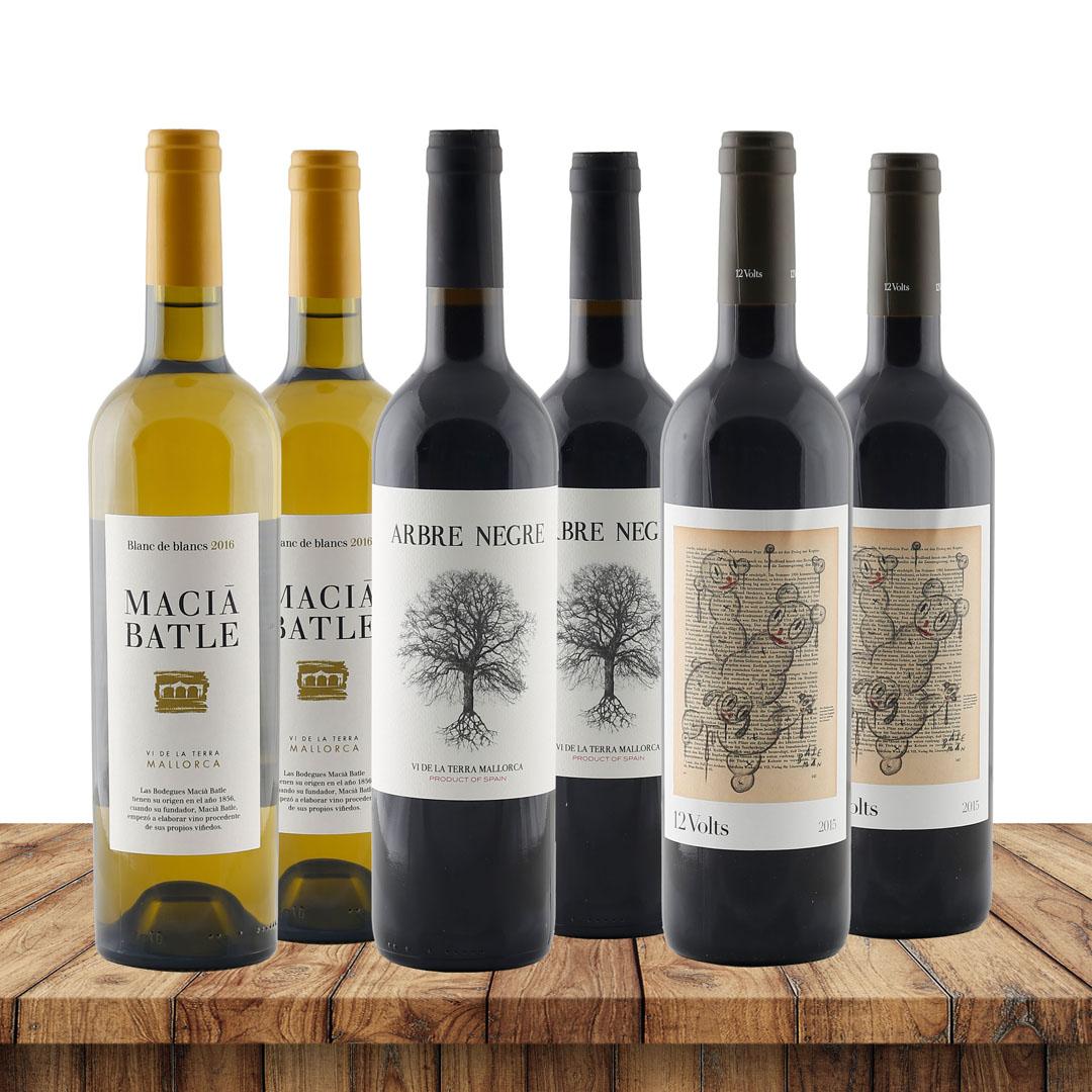 Weinreise Mallorca - je 2 Flaschen von 3 mallor...