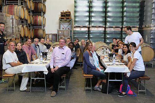 Mittagessen beim Besuch auf dem Weingut Manz