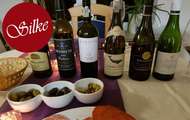 Silkes Blog: Weinverkostung Suedafrika