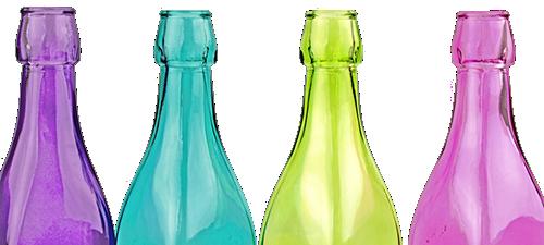 Farbige Weinflaschen zum Schutz vor Licht