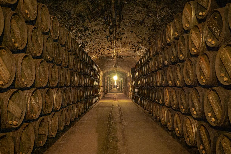 Gelagerte Weinfässer im Weinkeller von Vina Tondonia | Silkes Weinkeller